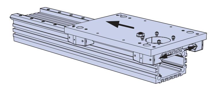 齿轮齿条传动单轴机械手示意图